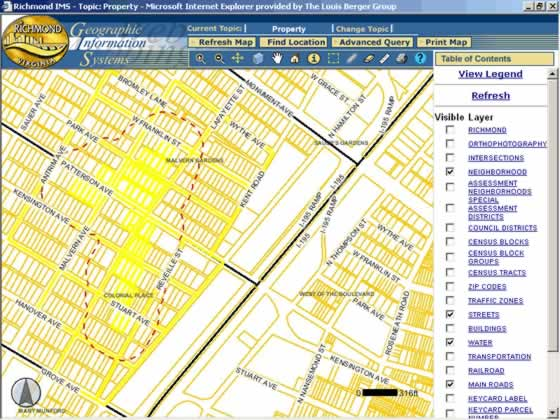 on city of richmond gis map
