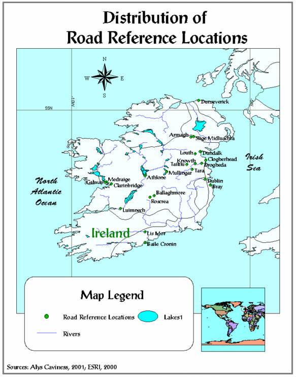 An Analysis of Pre-Christian Ireland Using Mythology and A GIS