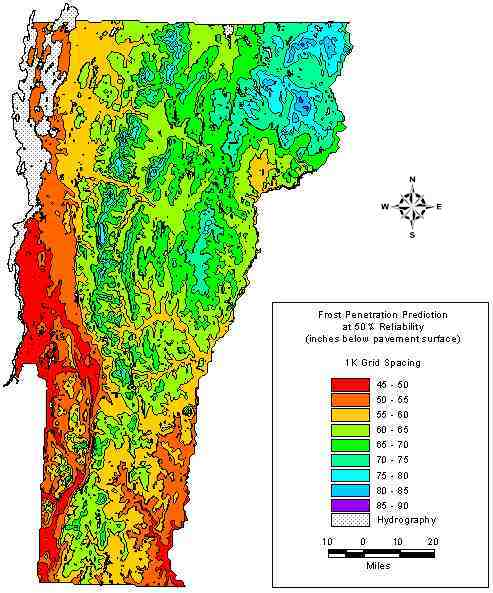 There can vermont frost depth penetration does