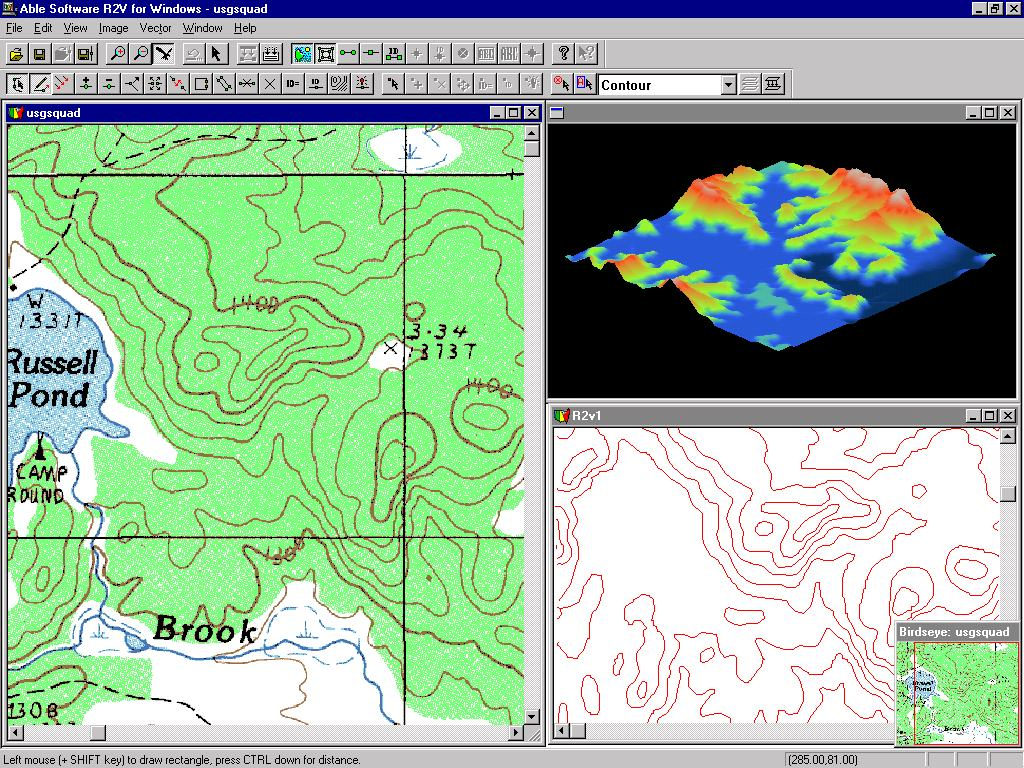 R2V: Automated Map Digitizing Software for ArcInfo and ArcView