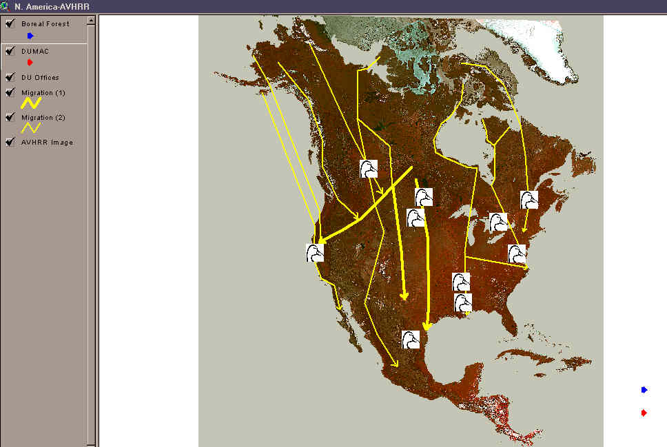 Using ArcView to Demonstrate Ducks Unlimited Natural Resource Projects